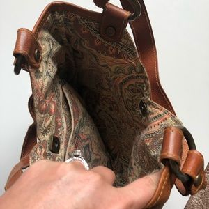 Lucky Brand Bags - LUCKY BRAND | Brown Leather Patchwork Shoulder Bag